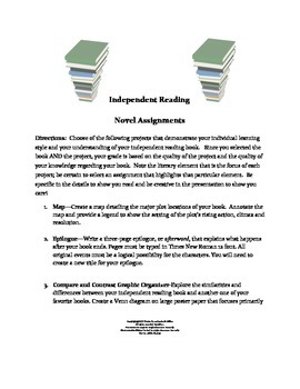 SSR and Independent Reading Differentiated Learning Projects