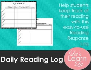Daily Reading Log