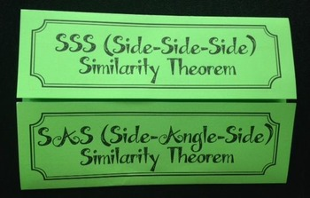 SSS and SAS Similarity Theorems (Geometry Foldable)