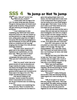 Science Literacy: SSS4 To Jump or Not To Jump - Short Science Story - Density
