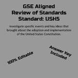 GSE SSUSH5 Study Guide/Review Editable- Constitution