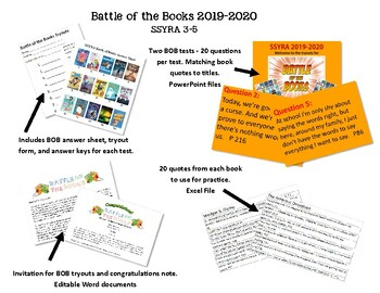 SSYRA 2019-2020 Battle of the Books 3-5
