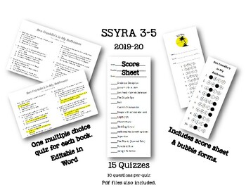 SSYRA 2019-2020 Quizzes 3-5