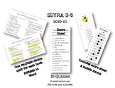 SSYRA 2019-2020 Quizzes 3-5