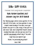 SSYRA Book Review Questions for 2016-2017 Titles