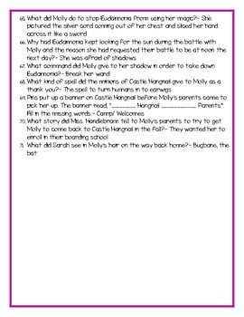 "SSYRA Comprehension Questions for ""Castle Hangnail"" By Ursula Vernon"
