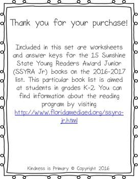 SSYRA Jr 2016-2017 Reading Comprehension