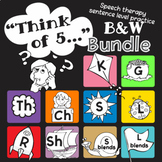 "Speech therapy – Sentence level practice: ""Think of 5..."""
