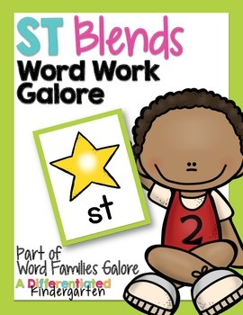 ST Blends Word Work Galore-Differentiated and Aligned Activities and Instruction