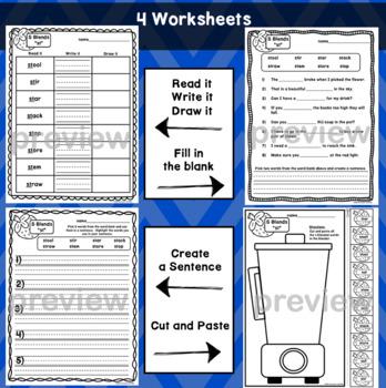 ST Blends Worksheets - Initial Consonant Blends