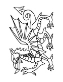 ST. DAVID'S DAY COLORING, BUNDLE 8 PAGES, ST. DAVID'S DAY ACTIVITIES