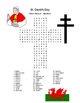 ST. DAVID'S DAY Wales Welsh Word Search Puzzle - Worksheet - Early Finisher