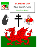 ST. DAVID'S DAY Wales Welsh Word Search Puzzle - Christian - Early Finisher