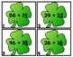 ST. PADDY SUMS 2-Digit Addition Scoot/Task Cards WITH RG