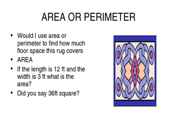 ST. PATRICK'S AREA AND PERIMETER
