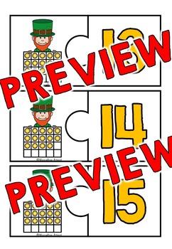 ST PATRICK'S DAY ACTIVITY KINDERGARTEN (TEN FRAMES CENTERS) NUMBERS 1-20)