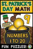 ST PATRICK'S DAY MATH TEN FRAME CENTER (NUMBERS 1-20 MARCH ACTIVITY KINDERGARTEN