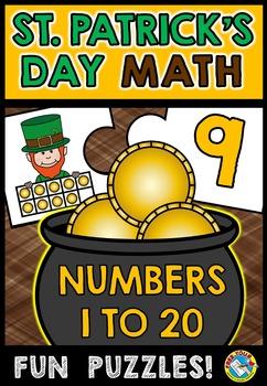 ST PATRICK'S DAY MATH TEN FRAME CENTER (NUMBERS 1-20 MARCH ACTIVITY KINDERGARTEN