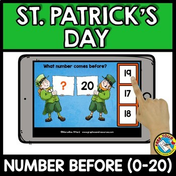 ST. PATRICK'S DAY ACTIVITIES KINDERGARTEN MATH (COUNTING TO 20 BOOM CARDS BUNDLE