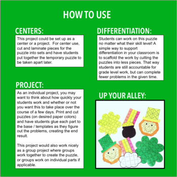 ST PATRICK'S DAY ACTIVITY - FIFTH GRADE MATH POT OF GOLD