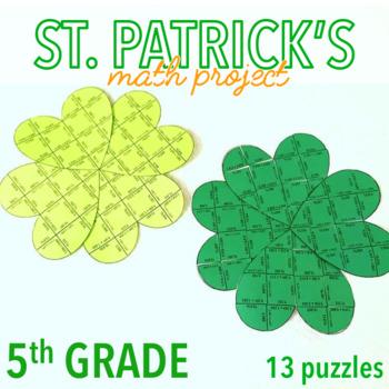 ST. PATRICK'S DAY ACTIVITY - FIFTH GRADE MATH SHAMROCK