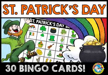 ST. PATRICK'S DAY BINGO GAME (MARCH ACTIVITIES KINDERGARTEN AND PRESCHOOL)