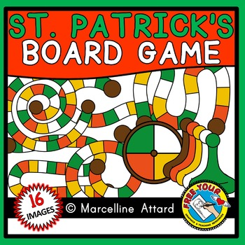ST PATRICK'S DAY CLIPART: GAME BOARD CLIPART: BUILD A GAME CLIPART
