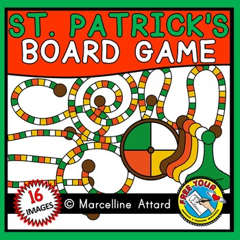 ST PATRICK'S DAY CLIPART (BUILD A GAME BOARD TEMPLATES)