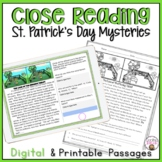 CLOSE READING PASSAGES ST. PATRICK'S DAY MYSTERIES COMPREHENSION PRACTICE