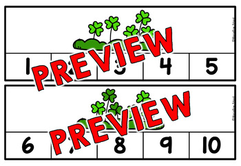 ST. PATRICK'S DAY COUNTING CENTERS 1-10 (KINDERGARTEN COUNTING ACTIVITIES)