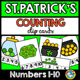 ST. PATRICK'S DAY COUNTING CENTERS 1-10 (KINDERGARTEN COUN