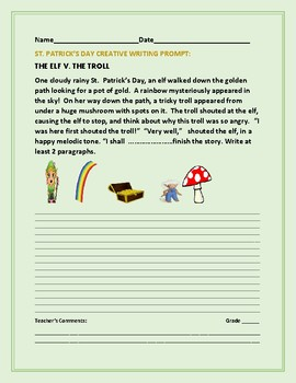 ST. PATRICK'S DAY CREATIVE WRITING PROMPT: THE ELF V. THE TROLL