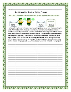 ST. PATRICK'S DAY CREATIVE WRITING PROMPT: THE SHAMROCK COLLECTORS
