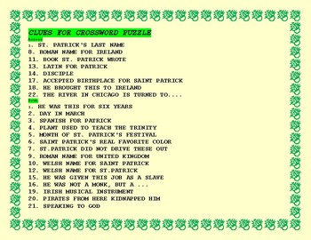 ST. PATRICK'S DAY CROSSWORD PUZZLE: A FUN TRICKY CHALLENGE!