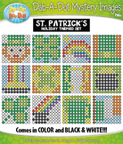 ST. PATRICK'S DAY Dab-A-Dot Mystery Images Clipart {Zip-A-Dee-Doo-Dah Designs}