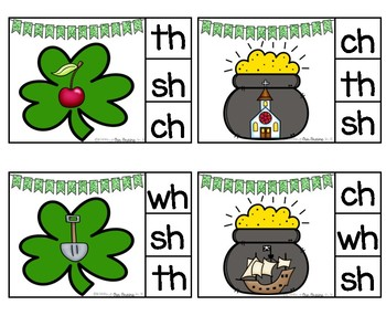 ST. PATRICK'S DAY Digraph Clip Cards