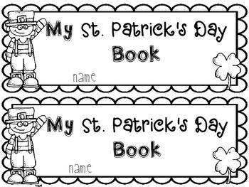 ST. PATRICK'S DAY Emergent Reader