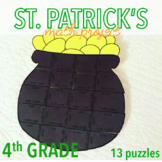 ST. PATRICK'S DAY - FOURTH GRADE MATH POT OF GOLD