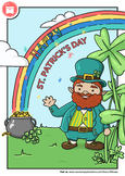 ST. PATRICK'S DAY: Free Coloring Page / Post Card by WIMASU