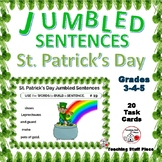 ST. PATRICK'S DAY Jumbled Sentences ... VOCABULARY Task Cards