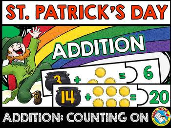 ST. PATRICK'S DAY KINDERGARTEN MATH (ADDITION COUNTING ON STRATEGY)