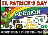 ST. PATRICK'S DAY KINDERGARTEN MATH (ADDITION COUNTING ON STRATEGY) SUMS TO 20