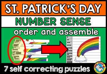 ST. PATRICK'S DAY KINDERGARTEN NUMBER SENSE PUZZLES (MINI CENTER)