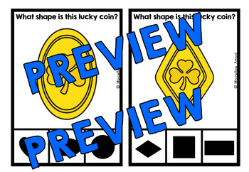 ST. PATRICK'S DAY ACTIVITY KINDERGARTEN (LUCKY COIN SHAPE RECOGNITION CLIP CARDS