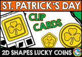 ST. PATRICK'S DAY MATH CENTER (LUCKY COIN SHAPES RECOGNITI