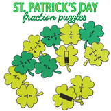 ST PATRICK'S DAY MATH CENTERS - SHAMROCK FRACTIONS ACTIVITY