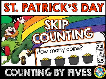ST. PATRICK'S DAY MATH (SKIP COUNTING BY 5S CENTER) MARCH ACTIVITY KINDERGARTEN