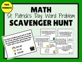 ST PATRICK'S DAY Math Scavenger Hunt (Word Problems)