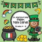 ST. PATRICK'S DAY:  Math Task Cards, Grade 5