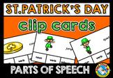 ST. PATRICK'S DAY GRAMMAR ACTIVITIES (PARTS OF SPEECH: NOU